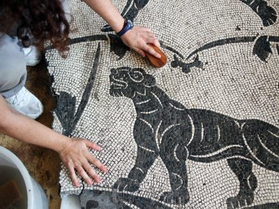 Mosaico bicromo, II sec. DC